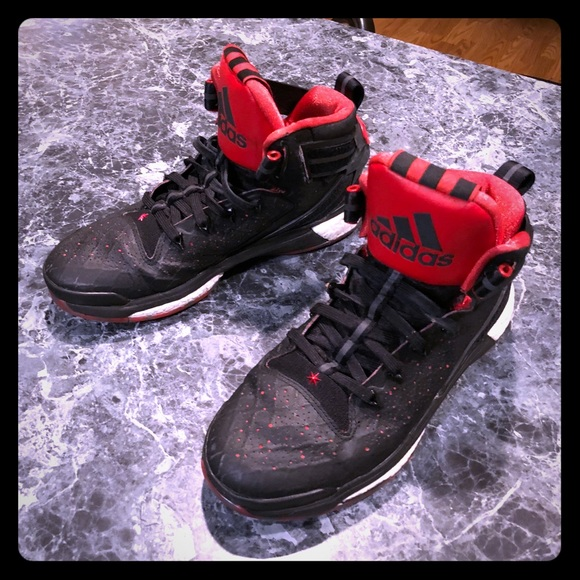 new concept 1a71b a10c8 ... coupon adidas d rose 6 black red size us 8.5 d6cc2 9a330
